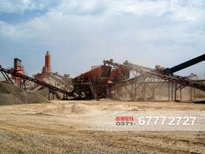 湖南常德石料生产现场