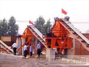 山东济南石鹅卵石制砂生产线